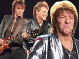 In the wars: New information reveals that Richie Sambora is allegedly embroiled in a feud over finances with the lead singer Jon Bon Jovi