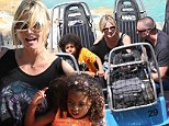 Back on the water! Heidi Klum and boyfriend Martin Kristen treat all four of her children to a day at an adventure park