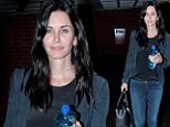 Even make-up free, the camera still loves 48 year-old Courteney Cox