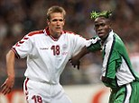 Super Eagle: The Nigerian defender coloured his hair green to go with his national side's kit