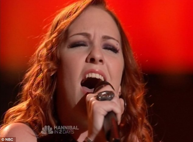 Big shoes to fill: The 22-year-old took a bold risk by choosing to sing Adele for the audition