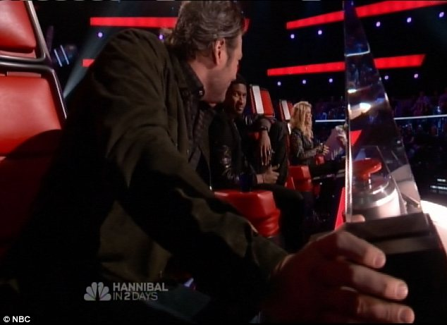 Competition: Blake, Adam, Shakira and Usher make up the judging panel for this season of the hit show