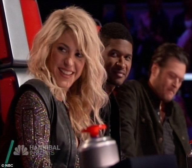 New additions: Shakira and Usher are settling in well to their roles as coaches