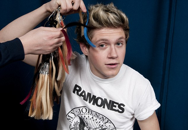 Brings out the colour of your eyes! Niall plays about with the hair colour swatches