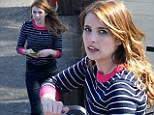 Natural beauty! Emma Roberts shows off her slender frame in casual outfit on set of new sci-fi TV pilot