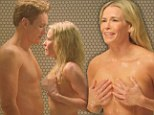 Occasional nudity! Conan O'Brien and Chelsea Handler get frisky during a comedy shower scene