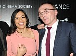 The Ex Factor! Rosario Dawson beams merrily as she poses with her former boyfriend Danny Boyle at Trance premiere