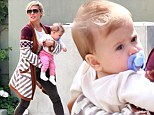 Happy duo: Elsa Pataky with daughter India in the Los Angeles neighborhood of Santa Monica, on Monday