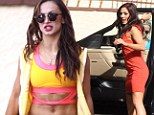 It's a DWTS showdown! Karina Smirnoff flaunts her toned tummy while Sharna Burgess gives it some leg in short skirt