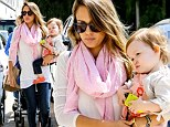 From bombshell to best seller! Jessica Alba celebrates landing on the New York Times Best Sellers list with a shopping trip with baby Haven