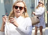 A white idea! Diane Kruger glows in white as she spends a day shopping in Los Angeles