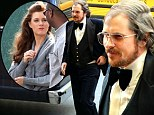 Christian the chameleon! Bale suits up in tux and bad hairdo to join Amy Adams on set of 1970s flick