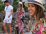 'Machete Kills' actress Jessica Alba and her husband Cash Warren arrive in St Barts.