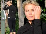Pretty woman: Cameron Diaz looked natural as she went to the gym without make-up