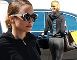 Nicole Richie returns to Tracey Anderson Studios in Studio City