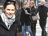 Enjoying some family time! Jennifer Garner and on-screen Alias father Victor Garber reunite for lunch in New York