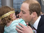 He's a Prince, not a frog! Toddler recoils in horror from William's Glasgow kiss (but giggles happily for Kate)
