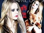 Bear-y racy! Avril Lavigne strips nude for cover of her new single... with just a cuddly toy to protect her modesty