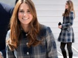 Duchess of Cambridge wears tartan on visit to Scotland