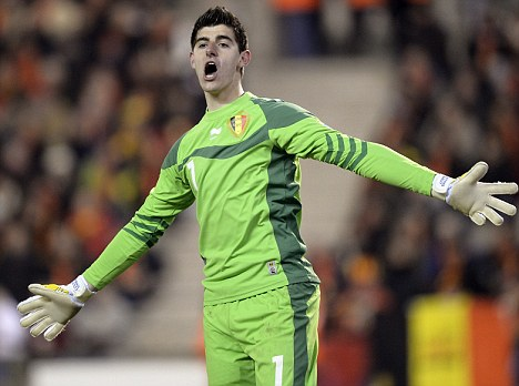 Highly rated: Courtois has impressed for Atletico and Belgium this season