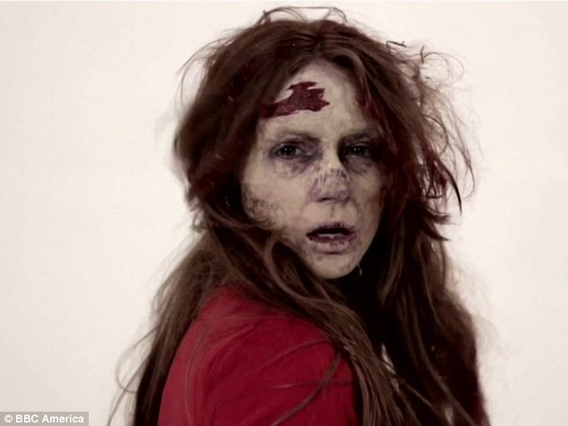 Someone needs a Doctor! Karen Gillan transforms into a zombie for a spoof make-up advert in The Nerdist