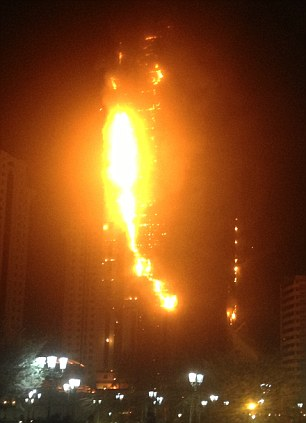 Flames engulf the tallest building in North Caucasus, Russia
