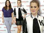 Kelly Osbourne brings cheer to red carpet in leather varsity outfit...while Drew Barrymore shows her demure side in floral blouse at the same event