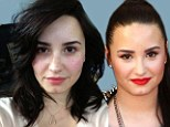 Au naturel: Demi Lovato tweeted a snap of herself makeup free, on Wednesday