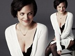 Office crush! Mad Men's Elisabeth Moss strips down to her bra and knickers for sexy GQ spread