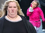 Honey Boo Boo spotted in a pink tutu while eating a Hot Dog in New York City