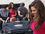 Alyssa Milano filming Mistresses a spin off of the popular British TV show of the same name
