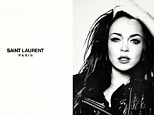 Strike a pose: Lindsay Lohan has inspired yet another spoof designer advert, this time for Saint Laurent.