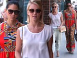A date with destiny: Olivia Munn had a chance encounter with Julianne Hough at the nail salon in Beverly Hills, on Wednesday