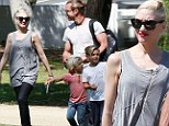 Just monkeying around! Gwen Stefani and Gavin Rossdale spend an afternoon in the park with their sons