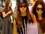 Vanessa Hudgens and Ashely Tisdale shopping at Bloomingdale's