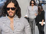 They're tight, even by your standards! Russell Brand leaves nothing to the imagination in obscenely tight grey trousers