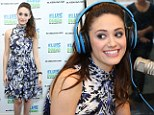Emmy Rossum is looking and sounding great she slips into flower print dress and pointy purple heels to promote new album