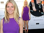 Fashion fail: Gwyneth forgot to take the labels off of her shoes