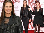 Brooke Shields and Cyndi Lauper at the Kinky Boots opening show