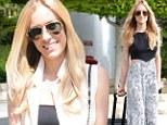 A perfect 10! Kristin Cavallari shows off her glossy tresses after pampering treatment at beauty salon