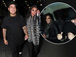 Two dates in as many days! Rob Kardashian continues to woo brunette model Naza Jafarian... and he leaves Kris at the hotel