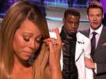 They think it's bawl over! Mariah Carey is moved to tears as unemployed teenager Burnell Taylor is voted off American Idol