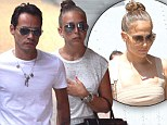 Chloe Green who was conjuring images of Jennifer Lopez as she held hands with Marc Anthony in Miami, Florida on Wednesday