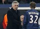 Hitting back: Carlo Ancelotti has rejected claims that he was forced to start David Beckham against Barcelona