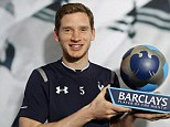 Jan's the man: Tottenham defender Vertonghen was voted the best player in the Premier League for March
