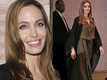 Angelina Jolie greets fans while