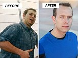 Weight loss success: Ten years ago Matt Townsend weighed 251lbs, before he started a weight loss journey that completely changed his life; He slimmed down to 175lbs and has kept his lean muscle ever since