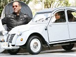 This is how I roll! Jerry Seinfeld putters around in funny clown car