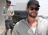 Liam Hemsworth leaves the gym in West Hollywood on Thursday