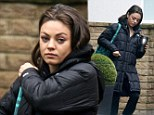 Still getting used to the time difference? Mila Kunis looks tired as she heads to the London set of Jupiter Ascending